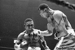 Bob Foster punching Dick Tiger New York City< May 27, 1968