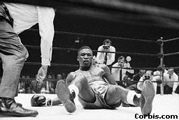 Dick Tiger knocked down by Bob Foster, New York City, May 27, 1968