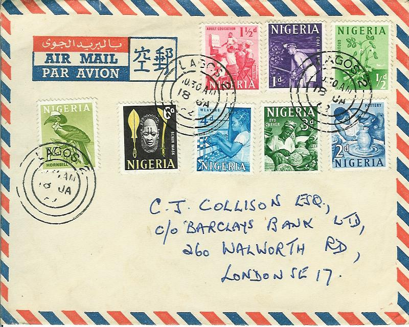 nigeria-1962-8-stamps-airmail-cover-to-united-kingdom